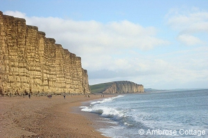 Cliffs at West Bay - View east along Jurassic coast